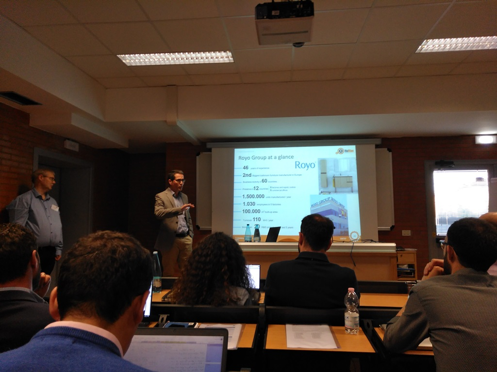 Royo presentation during Review Meeting in Pontedera