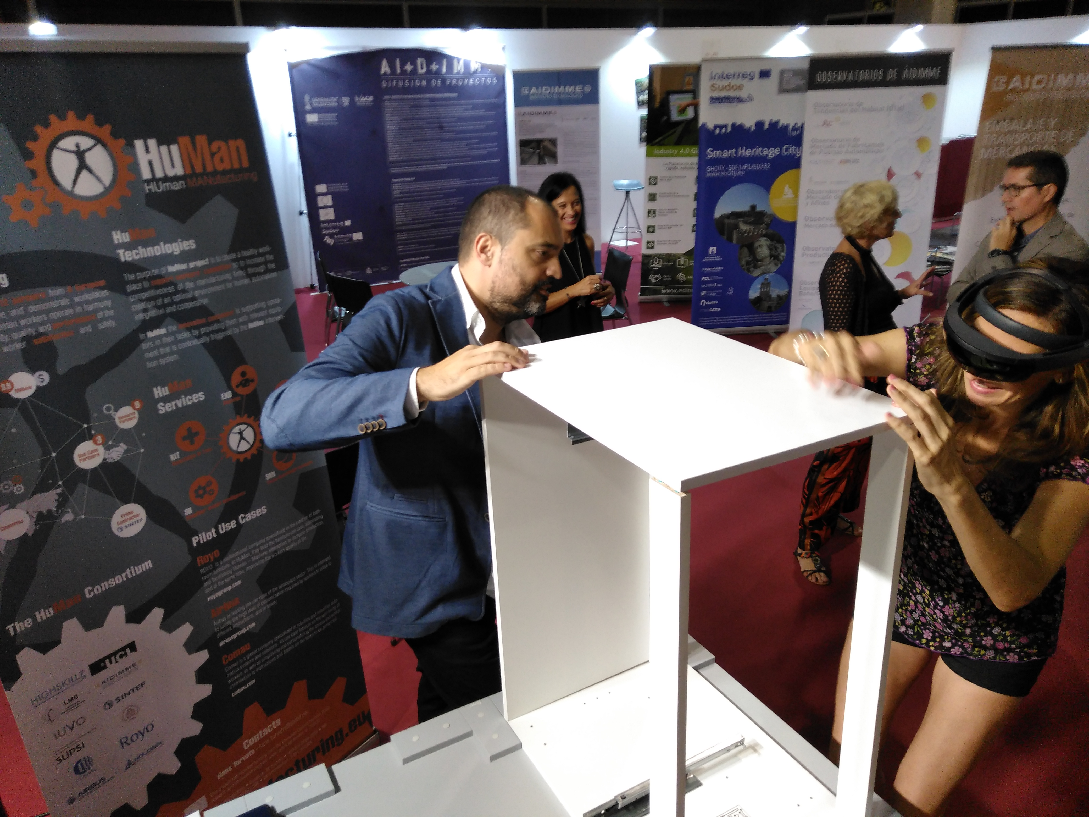 Augmented Reality demo at Hábitat Fair