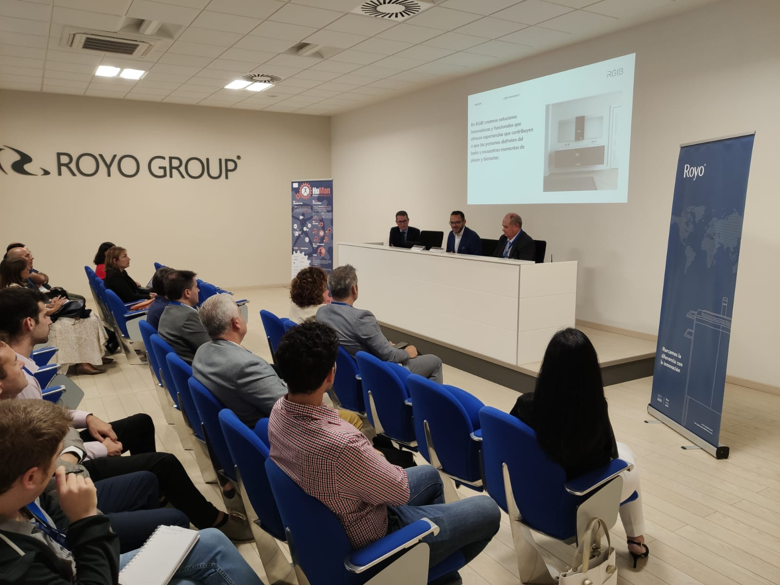 Upper management presenting
